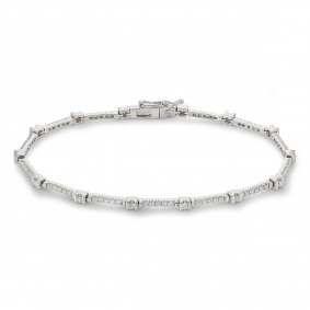 White Gold Diamond Bracelet 0.87ct G/VS